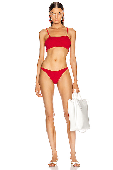 Hunza G Gigi Bikini in Red.
