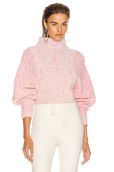 Isabel Marant Edilon Sweater in Pink. - size 40 (also in 34,42,44)