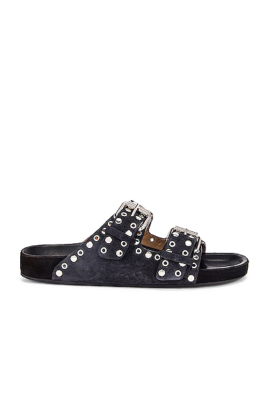 Isabel Marant Lennyo Sandal in Black. - size 41 (also in 38)