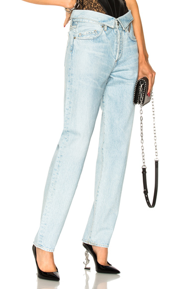 JEAN ATELIER Flip Straight in Denim Light. - size 24 (also in 25,26,27,28,29,30,31)