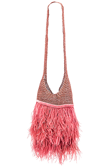 Johanna Ortiz Volvemos Al Mar Casis Bag in Brown,Pink.