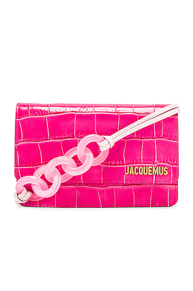 JACQUEMUS Le Sac Riviera Bag in Pink.