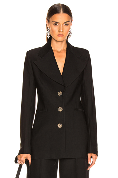 KHAITE Mckenna Long Blazer in Black. - size 2 (also in 0)