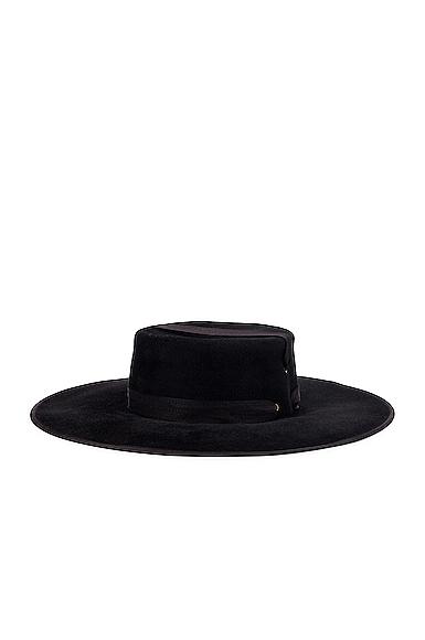 Lola Hats Zorro Felt Hat in Black.
