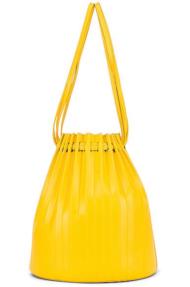 Mansur Gavriel Pleated Bucket in Yellow.