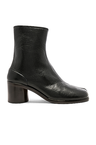Maison Margiela Light Brushed Tabi Boot in Black. - size 43 (also in 40,41,42,44)