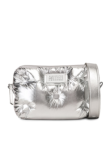 Maison Margiela Glam Slam Crossbody Bag in Metallic Silver.
