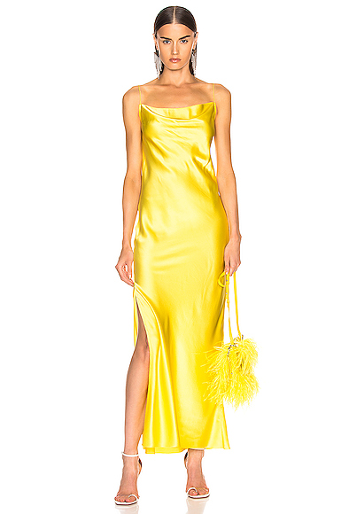 Marques ' Almeida Bias Tube Dress in Yellow. - size L (also in XS)