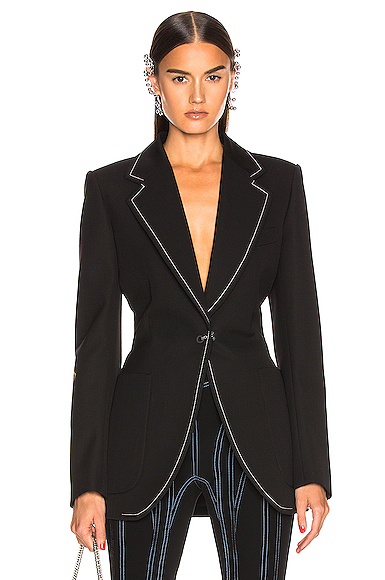 Mugler Tailored Blazer in Black. - size 36 (also in 34)