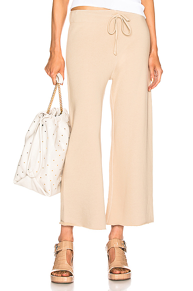 NILI LOTAN Kiki Sweatpant in Nude. - size XS (also in L,M,S)