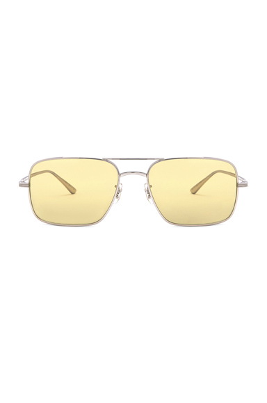 Oliver Peoples X The Row Victory LA Sunglasses in Metallic Silver.