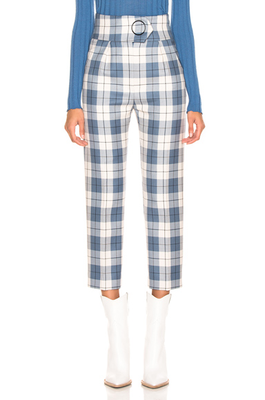 Petar Petrov Hansville Pant in Blue,Plaid,White. - size 38 (also in 36)