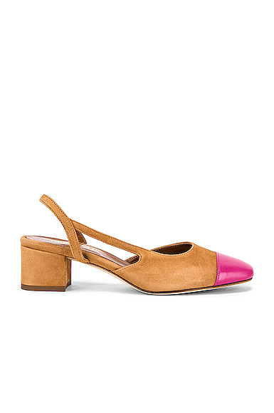 Paris Texas Suede Sling Back in Brown. - size 37 (also in 36,36.5,37.5,38.5,39.5)