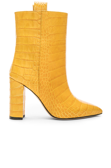 Paris Texas Ankle Boot in Animal Print,Yellow. - size 38 (also in 36,38.5,40)