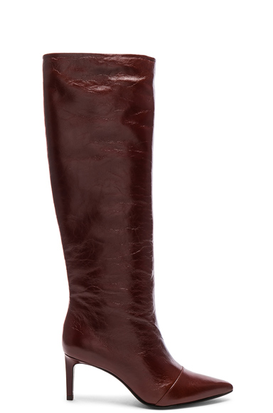 Rag & Bone Leather Beha Knee High Boots in Red. - size 38 (also in )