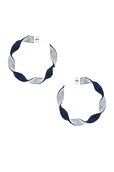 Rebecca De Ravenel Penelope Hoop Earrings in Blue.