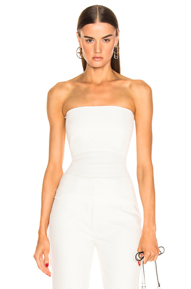 Rick Owens Bustier Top in White. - size 40 (also in )