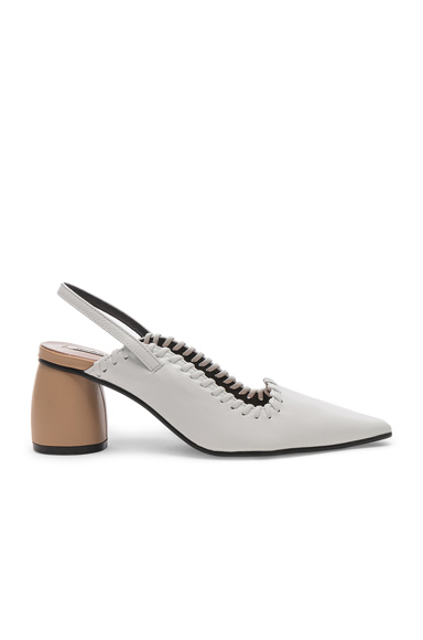 Reike Nen Curved Middle Slingback in White. - size 38 (also in 39)
