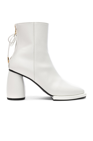 Reike Nen Square Ribbon Half Boots in White. - size 38 (also in )