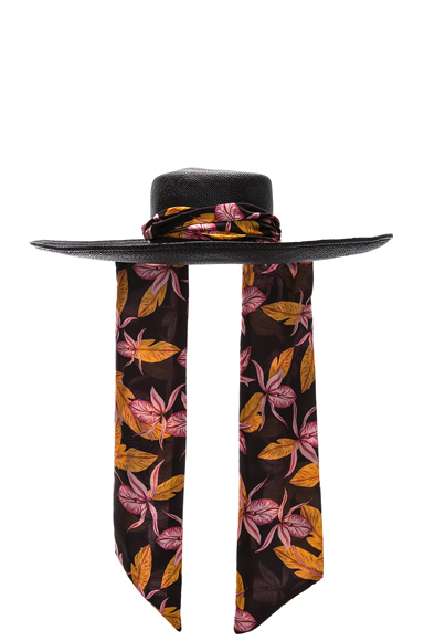 SENSI STUDIO Cordovez Wide Brim Hat in Black. - size M (also in )
