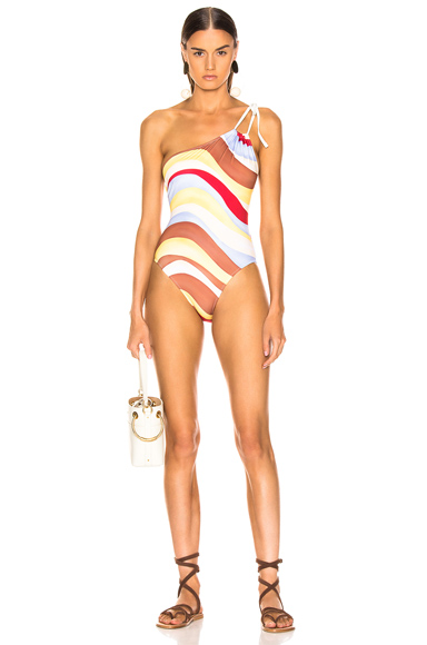 Solid & Striped Saree Swimsuit in Multi. - size M (also in L,S,XS)