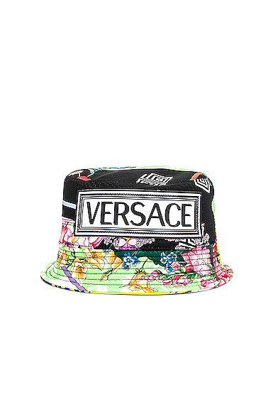 VERSACE Logo Print Bucket Hat. - size 57 (also in )