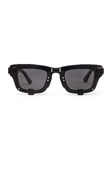 Y/Project Pronged Rectangle Sunglasses in Black.