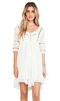 Free People Little Dot Mini Dress in Vanilla