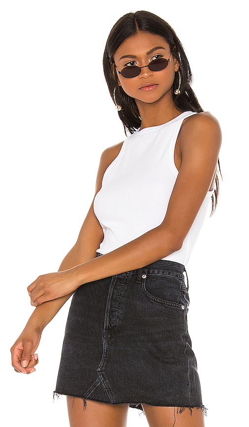 AGOLDE Rib Tank in White. - size M (also in XS,S,L)