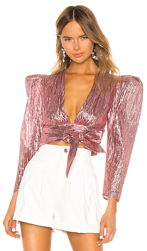 Atoir Close Call Crop Top in Pink. - size L (also in S,XS,M)