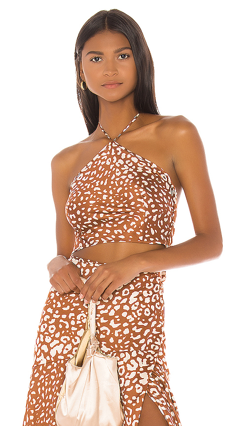 Alexis Izumi Top in Brown. - size L (also in XS,S,M)