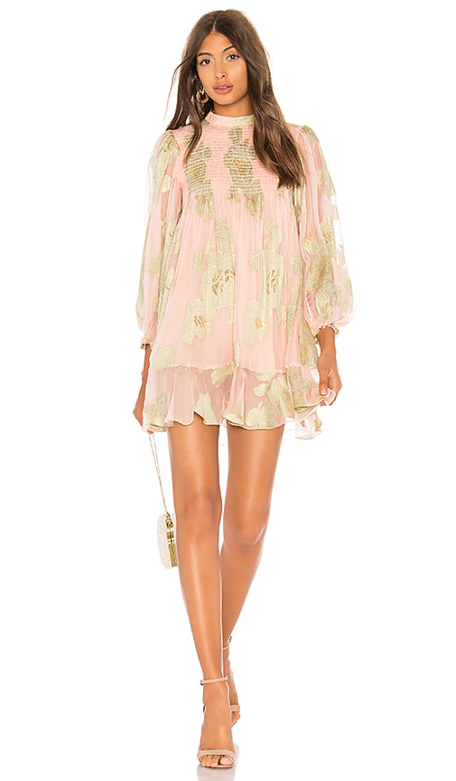 HEMANT AND NANDITA Shimmer Short Dress in Pink. - size XS (also in S,M)