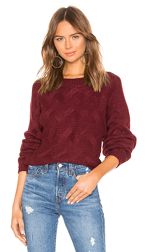 by the way. Raquel Woven Sweater in Wine. - size L (also in XS,S)