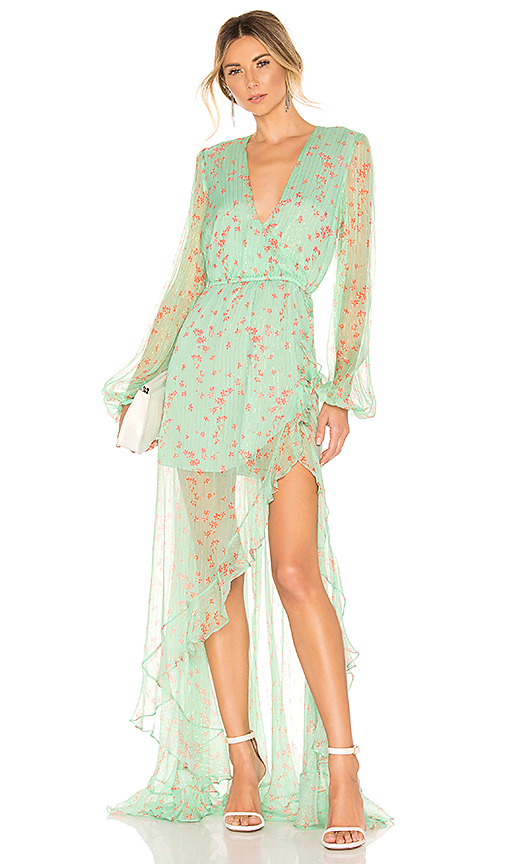 Caroline Constas X REVOLVE Liv Gown in Mint. - size S (also in XS)