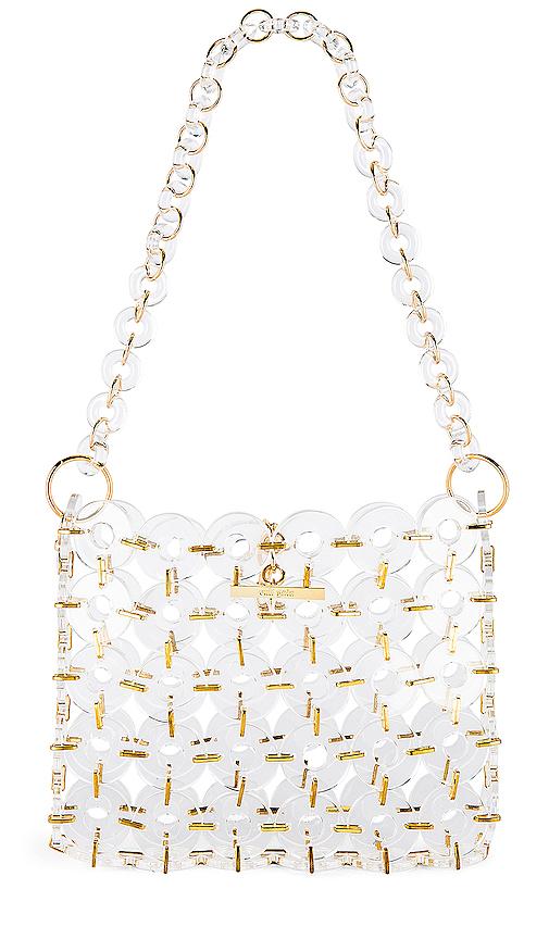Cult Gaia Acrylic Jasmine Bag in White.
