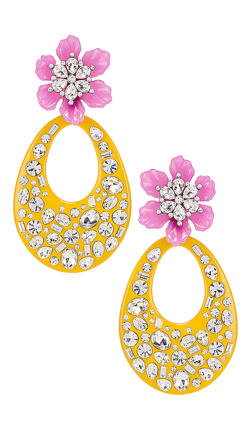 DANNIJO Blossom Earring in Yellow.