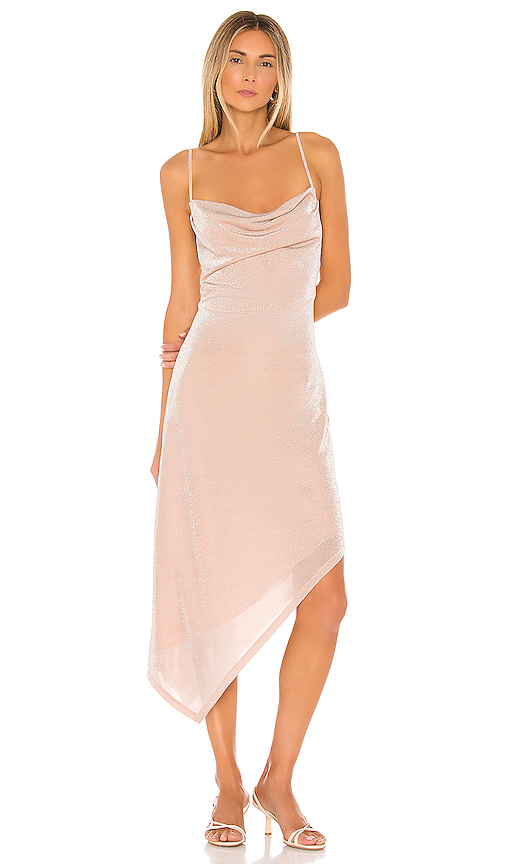 Donna Mizani Carrie Midi Dress in Blush. - size XS (also in M,L,S)