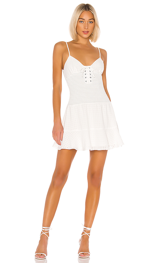 The East Order Chance Mini Dress in White. - size S (also in XS,M,L)