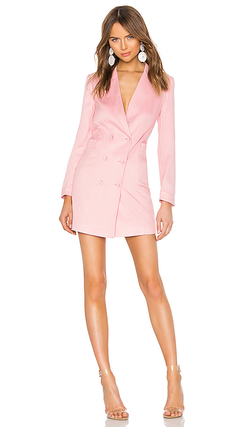 fleur du mal Double Breasted Blazer Dress in Pink. - size 4 (also in 0,2,6,8,10)