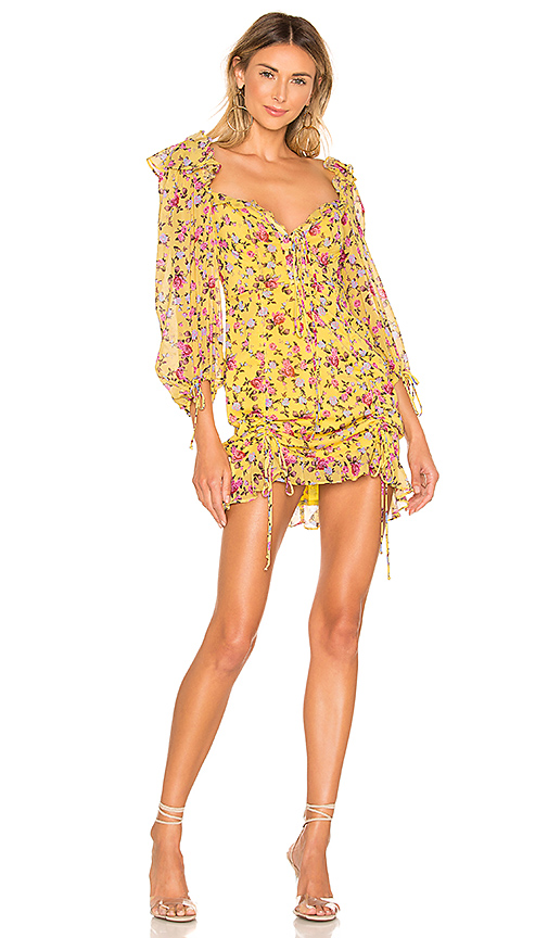 For Love & Lemons Beaumont Mini Dress in Yellow. - size M (also in L)