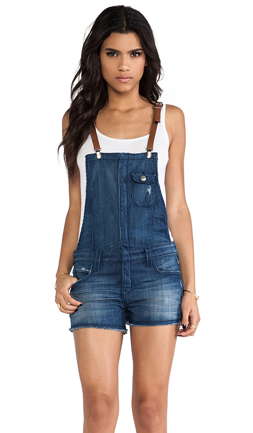 Frankie B. Jeans Hipster Short Overalls