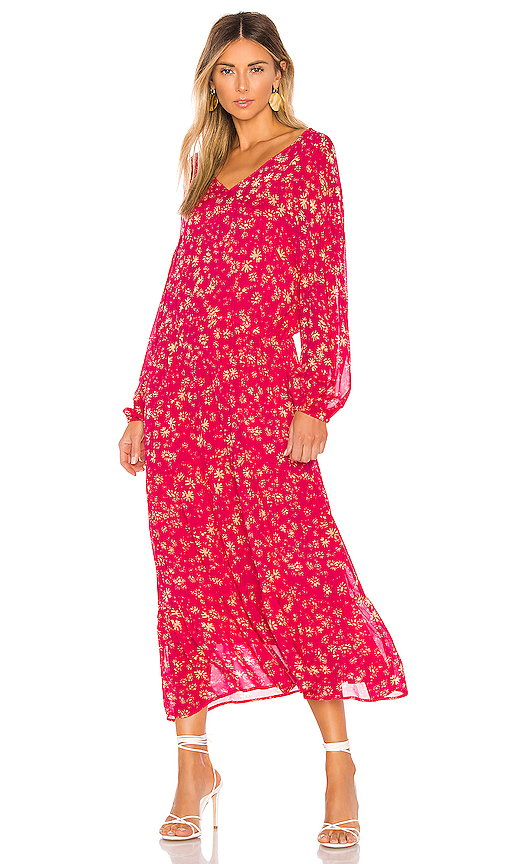 Free People Wall Flower Midi Dress in Pink. - size XS (also in S,M)