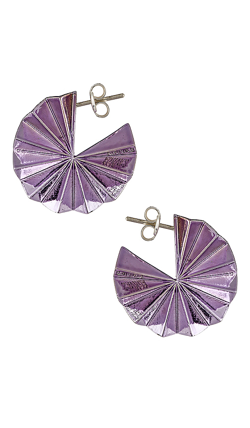 Gaviria Lantern Earrings in Purple.