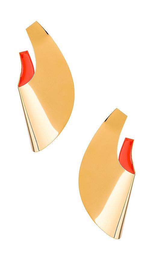 Gaviria Small Anish Earrings in Metallic Gold.
