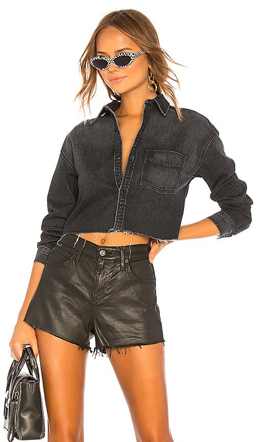 GRLFRND Christy Crop Cut Off Shirt. - size S (also in XS,M,L)