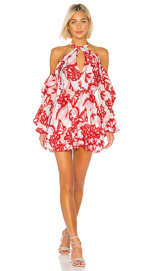 House of Harlow 1960 x REVOLVE Harmony Dress in Red. - size S (also in XXS,XS,L)