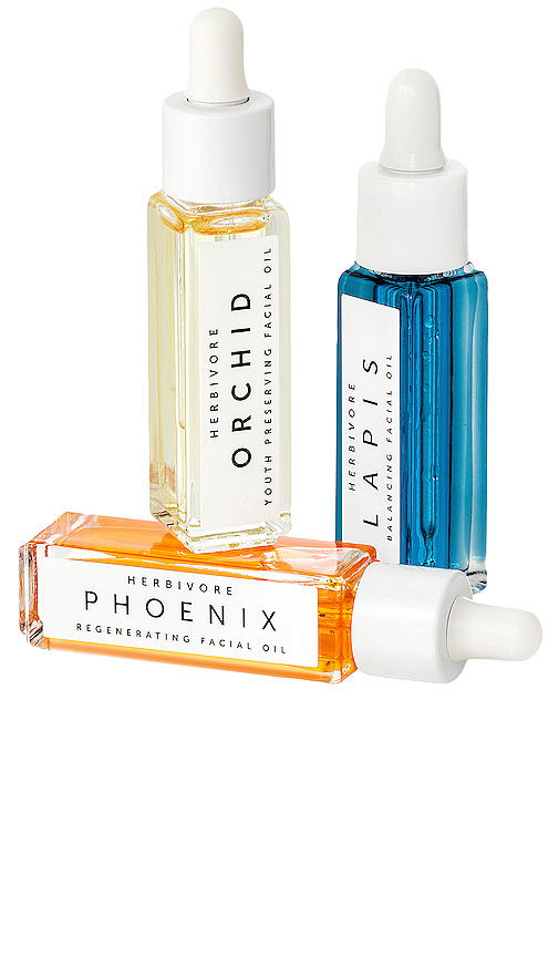 Herbivore Botanicals Mini Facial Oil Trio in Beauty: NA.