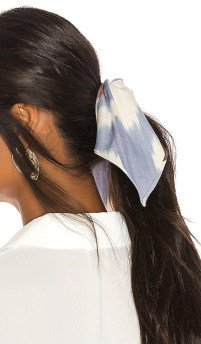 Jennifer Behr Ikat Scrunchie Scarf in Blue.