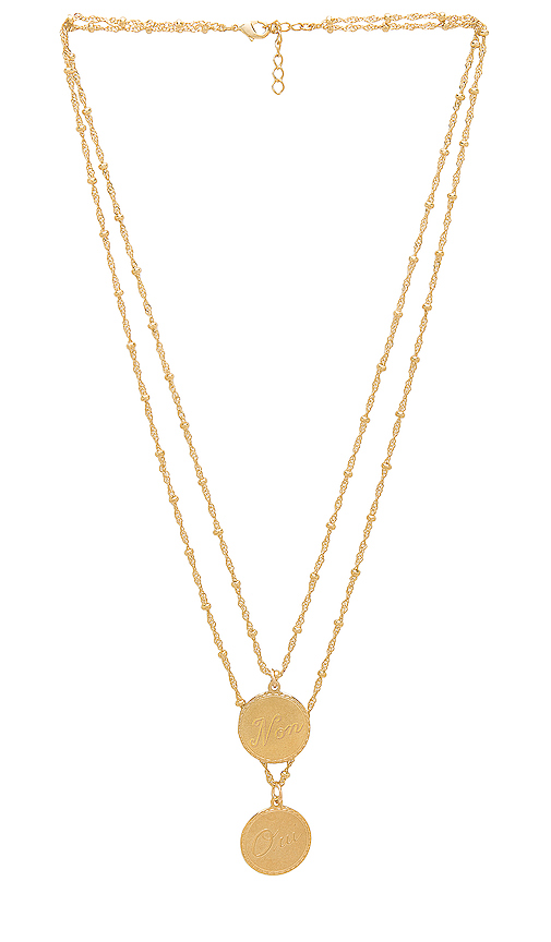 joolz by Martha Calvo Non & Oui Necklace in Metallic Gold.