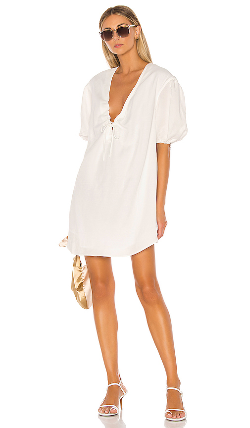 L'Academie The Amaya Mini Dress in White. - size L (also in S,XL)